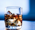 Highball whiskey glass at eye level Royalty Free Stock Photos