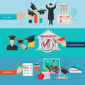 Higher Education Banner Set Royalty Free Stock Photo