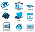 Higher Education Icons Set Three Royalty Free Stock Photo