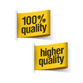 Higher quality product labels Stock Images