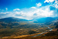 The highest altitude road in romania transalpina crossing parang mountains Royalty Free Stock Images