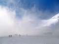 Highest ski slope in slovakia winter view of lomnicke sedlo alt meters the mist lomnicke sedlo is the it is located high Royalty Free Stock Images