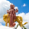 The highest statue of the Goddess Durga Royalty Free Stock Photo