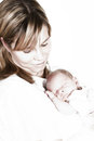 Highkey mother and baby Stock Images