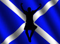 Highland dancer with flag Stock Photos
