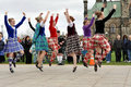 Highland Dancers perform on Tartan Day Stock Image