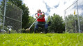 Highland games man hammer throw danny frame competes in the at the new brunswick festival july in fredericton canada Royalty Free Stock Images