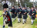 Highland Games: Pipe band Royalty Free Stock Images