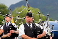 Highland Games Pipeband in Scotland Royalty Free Stock Image