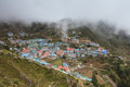Highland village Namche Bazar Royalty Free Stock Photo