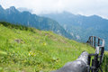 Highlands view from the of bucegi mountains Royalty Free Stock Images
