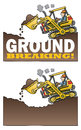 Highlift loader breaking ground