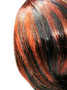 Highlight hair black and red texture background Royalty Free Stock Photos
