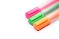 Highlighter marker or highlight pen multicolored Stock Photos