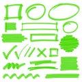 Highlighter Marking Design Elements