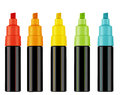 Highlighter pens colorful text with clipping work path Stock Photography