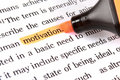 Highlighter and word motivation Stock Photo