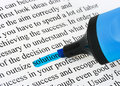 Highlighter and word solution Royalty Free Stock Photography