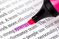 Highlighter and word synergy Royalty Free Stock Photos