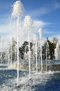 Highly beating up jet fountain the urban Royalty Free Stock Images