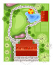 Highly detailed landscape design plan Royalty Free Stock Images