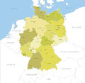 Highly detailed map of Germany regions, vector.