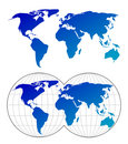 Highly detailed maps of the world Royalty Free Stock Photo