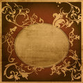 Highly Detailed textured grunge background frame Stock Images