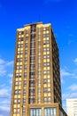 Highrise apartment building a modern brick Stock Photography