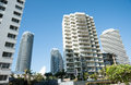 Highrise apartments and offices buildings surfers paradise on australia s gold coast with commercial skyline Stock Photo