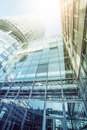 Highrise building from below office buildings seen cologne germany Stock Images