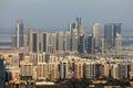 Highrise buildings in abu dhabi united arab emirates Royalty Free Stock Photos