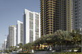 Highrise buildings sunny isles beach stock photo of many condominiums in fl on collins avenue Royalty Free Stock Photo