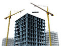 Highrise construction Site Royalty Free Stock Photo