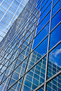 Highrise glass exterior Royalty Free Stock Photos