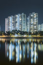 Highrise Residential building in Hong Kong city Royalty Free Stock Photo