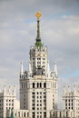 Highrise soviet era building in moscow on kotelnicheskaya embankment russia Stock Images