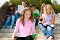 Highschool students studying Royalty Free Stock Photo
