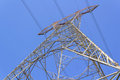 Hight voltage tower in with blue sky Stock Photo