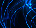 Hightech networks background in blue and black tones Stock Photo