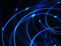 Hightech networks background in blue and black tones Royalty Free Stock Photo