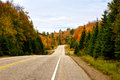 Highway in algonquin park in fall Stock Photo