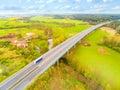 Highway bridge. Royalty Free Stock Photo