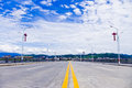 Highway bridge under blue sky Royalty Free Stock Photo