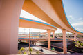 Highway bridges near Albuquerque new mexico Royalty Free Stock Photo