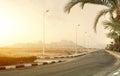 Highway in desert Royalty Free Stock Photo