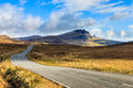 Highway through a desolate landscape Royalty Free Stock Photo