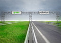 Highway for ecological and normal transport with sky Royalty Free Stock Photo