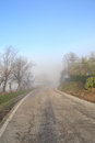 Highway in the fog italy Stock Image