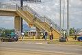 Highway footbridge a in abuja nigeria Royalty Free Stock Photo